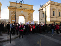 "Départ de la marche ""Women's March on Montpellier"" vers 15 h 45 (1x3)."