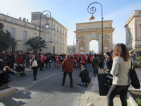 "Départ de la marche ""Women's March on Montpellier"" vers 15 h 45 (2x3)."