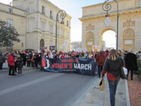 "Départ de la marche ""Women's March on Montpellier"" vers 15 h 45 (3x3)."